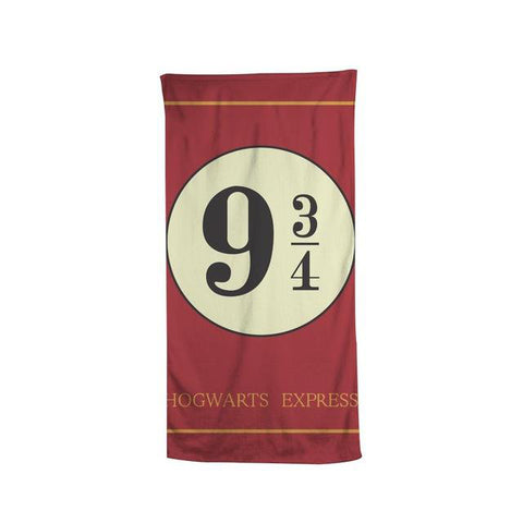 Platinum 9 3/4 Hogwarts Express Beach Bath Towel