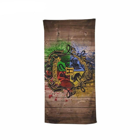Harry Potter Hogwarts Crest Beach Bath Towel