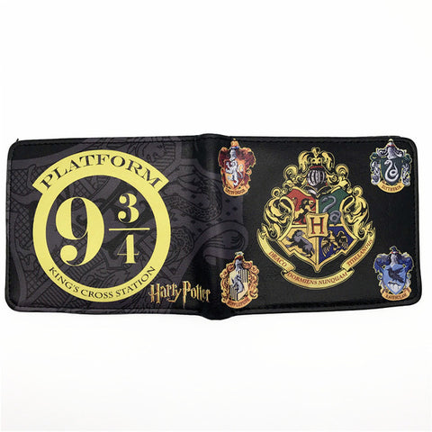 Harry Potter Hogwarts Crest Deathly Hallows Wallet