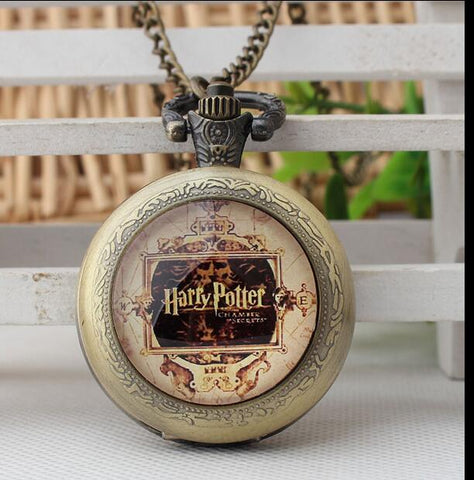 Harry Potter Modern Pocket Watch with Chain