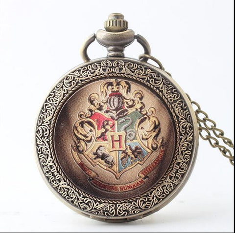 Harry Potter Hogwarts Bronze Antiques Pocket Watches