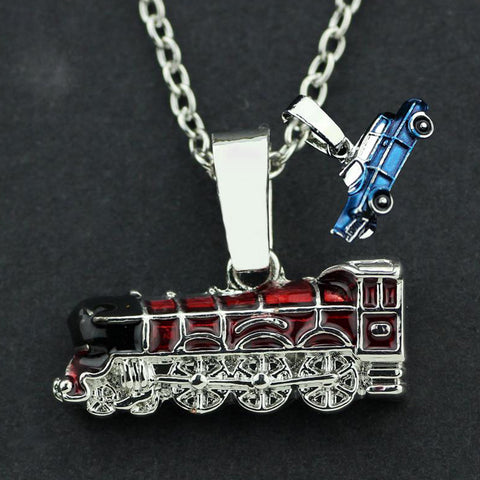 Hogwarts School Car Train Necklace