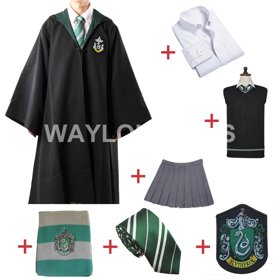 Slytherin Cosplay Robe Cloak Pullover Sweater Costume