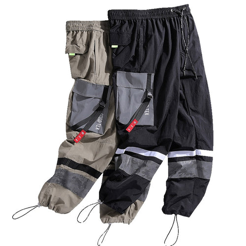 Low Striped Cargo Joggers