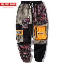 Patched Camo Block Sweats