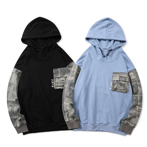 Retro Sleeve Patched Hoodie