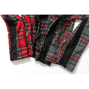 Plaid Bag Pipe Track Pants
