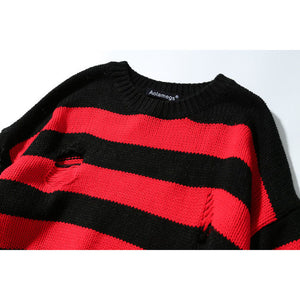 Destroyed Striped Sweater