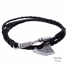 Mens Leather Axe Bracelet