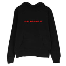 Womens Destroyed Hoodie