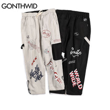 Word Scattered Loose Joggers