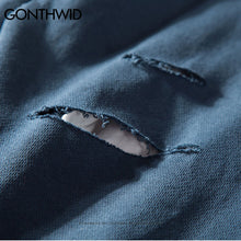 Double Layered Destroyed Sweatshirt