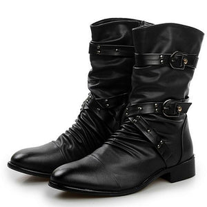 Mens Buckled Dress Boots