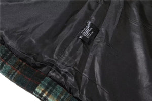 Split Flannel Hooded Jacket