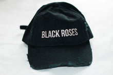 Black Roses Distressed Cap