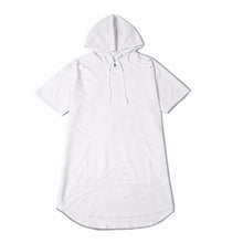 Short Sleeved Light Ripped Hoodie