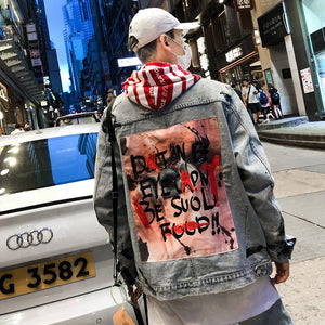 Graffiti Destroyed Denim Jacket