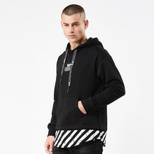 Track Dashed Dipped Hoodie