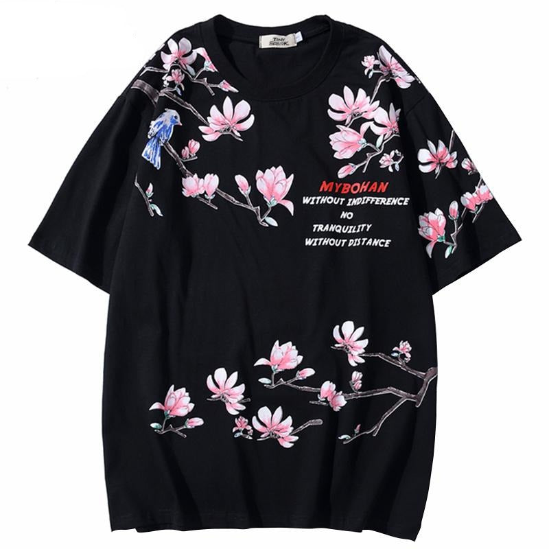 Floral Wrapped T-Shirt