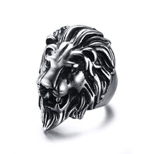 Mens Lion Head Ring