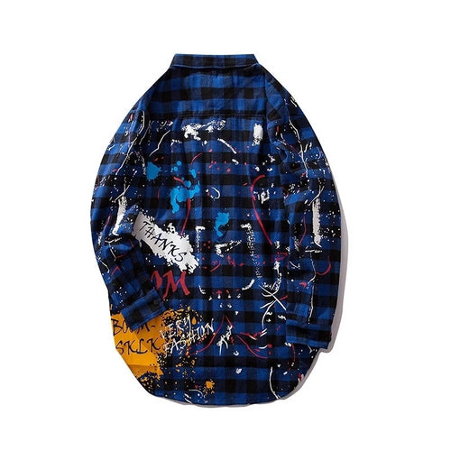 Graffiti Splatted Flannel