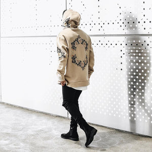 Floral-Print Hooded Sweatshirt