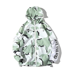Mint Camo Wind Jacket
