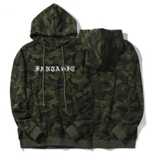 Camouflage Lettered Hoodie