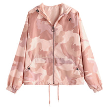 Drawstring Pink Camo Windbreaker