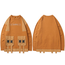 Multi-Pocket Dropped Sweatshirt