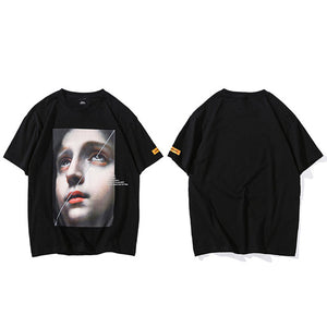 Split Sad Face Tee