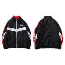High Collar Track Windbreaker