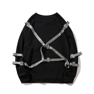 Ribbon Buckled Sweatshirt