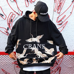 Crane Scattered Hooded Sweatshirt