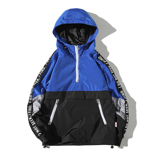 Side Patch Windbreaker