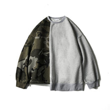 Split Piece Camouflage Sweatshirt