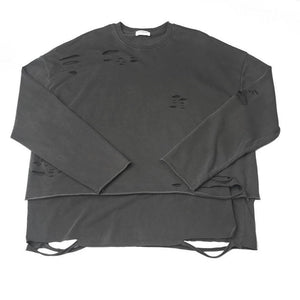 Destroyed Layered Sweatshirt