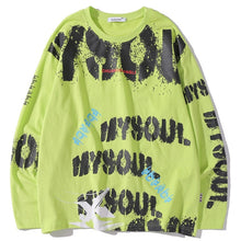 Graffiti Sprayed Long Sleeve
