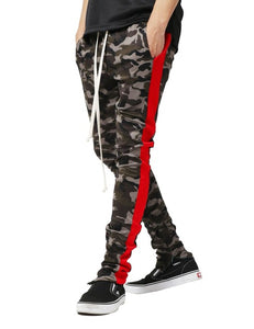 Camouflage Side-Bar Track Pants