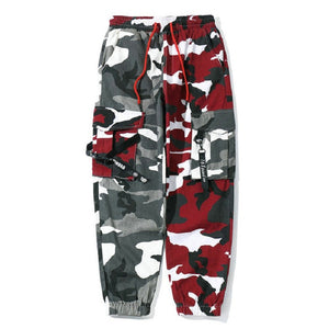 Spliced Camo Cargo Pants