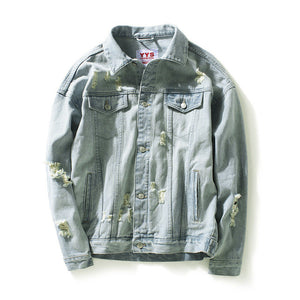 Patched Denim Jean Jacket
