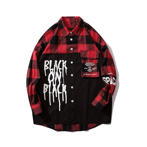 Dripped Flannel Long Sleeve