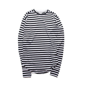 Striped Curved Long Sleeve