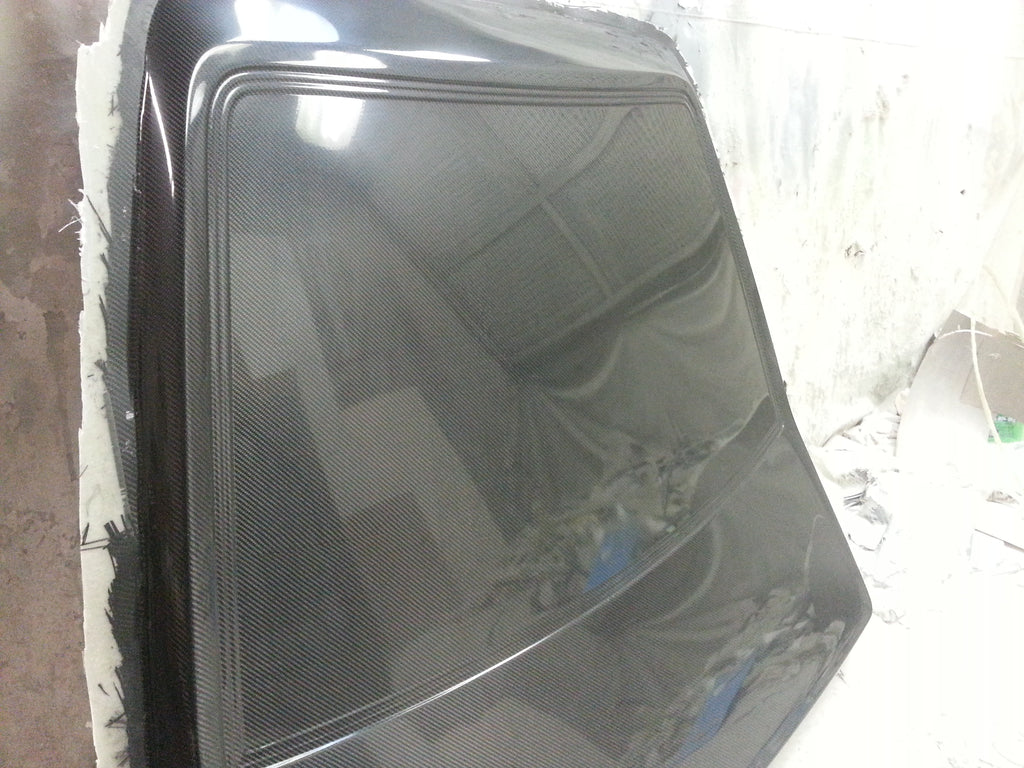 Carbon Composite Fox Body Hatch and Rear Glass replacement