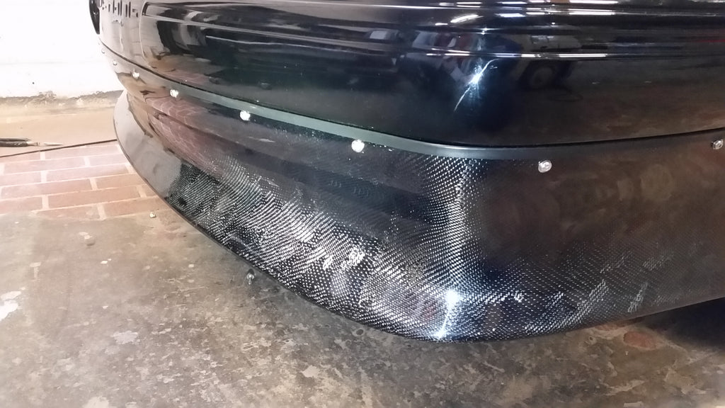 "Fox Body 8"" Carbon Fiber Lower Front Valance"