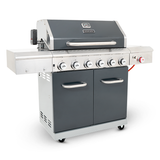 apex series 6 burner patio gas braai side