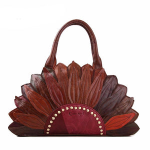 Cobbler Legend Genuine Leather Flower Bag