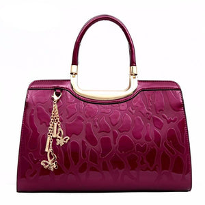 2017 NEW Stunning Cobblestone Embossed Genuine Leather Handbag