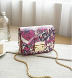 Love graffiti clutch