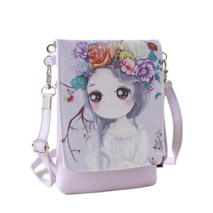 Anime Inspired Character Painted Handbag